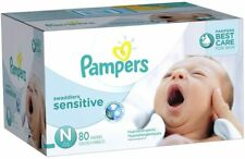 DiapersNewbornSize 0 (< 10 lb) 80 Count PampersSwaddlers Sensitive new box