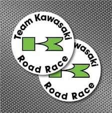 """2pc 4.5"""" H1R +H2R Kawasaki Road Race decal sticker pair KX KH250, H2, S1, S2, S3"""