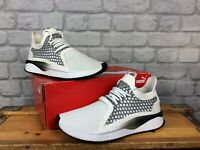 PUMA MENS UK 7 EU 40.5 WHITE BLACK TSUGI NETFIT V2 IGNITE KNIT TRAINERS RRP£90 L