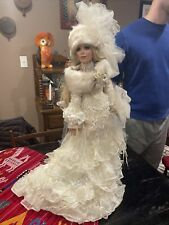 "Danbury Mint / Rustie 30"" Porcelain Doll Alex The Snow Bride Exquisite Doll"