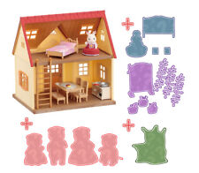 Sylvanian Families Calico Critters House & Mystery Furniture Bundle Gift Set