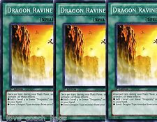 Dragon Ravine 1st SDDL X 3 New Mint Commons YU-GI-HI!