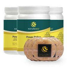Potentiated Power Pollen Family Pack (3 x 200 capsules) NatureBee, Free 5 Soaps