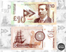 Scotland 10 pounds 2017 UNC Gabris Banknote Arthur Conan Doyle Sherlock Holmes
