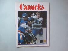 1976/77 VANCOUVER CANUCKS VS NEW YORK ISLANDERS PROGRAM BOB NYSTROM RICK BLIGHT
