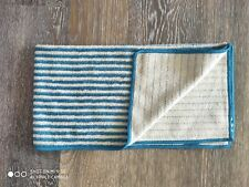 "1- Norwex Hand Towel Teal/Vanilla Stripes Microfiber BACLOCK 27.56x13.78"""