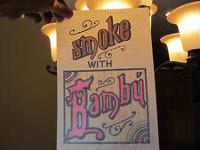 Smoke With Bambu (Last One) vintage 70s iron on t shirt transfer full size