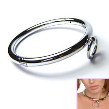 Stainless Steel Neck Collar Adult Slave Role Play Metal Collar For Men Women