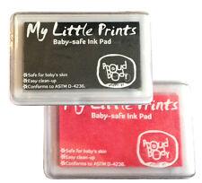 BABY SAFE NONTOXIC Foot Print Handprint INK PAD Black + Pink Combo New, Sealed