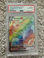PSA 10 Gem Mt Snorlax VMAX Secret Rainbow Rare (206/202) Pokemon Card SWSH