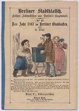 Guckkastenmann - kolorierte Abbildung - 1861