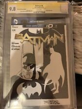 BATMAN #0 CGC SS 9.8 sketch of BATMAN by JOSE DELBO new 52 Blank Comic Art Mint