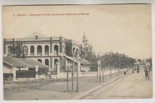 Senegal postcard - Dakar, Boulevard Pinet Lapraje et Palais de la Marine - P/U