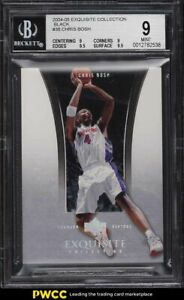 2004 Exquisite Collection Black Chris Bosh 1/1 #38 BGS 9 MINT