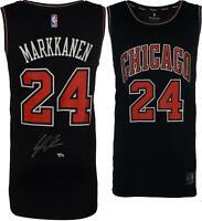 Lauri Markkanen Chicago Bulls Autographed Black Fanatics Fastbreak Jersey
