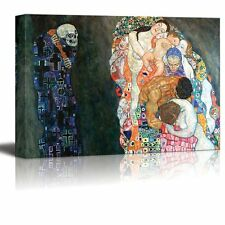 "Death and Life by Gustav Klimt - Canvas Print Wall Art - 24"" x 36"""