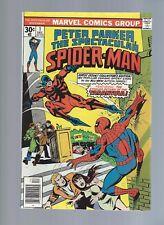 The Spectacular Spiderman 1 Dec 1976 NM ORIGIN Tarantula 1st Lightmastyer Mary J