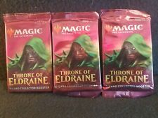 3x MTG Magic the Gathering Sealed Throne of Eldraine Collectors Booster Pack