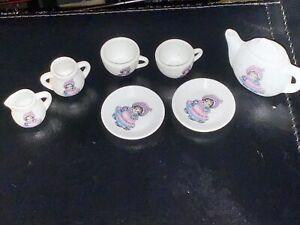Doll House Miniature Lot - Shackman -  Porcelain - Coffee Cups Plates Creamer