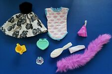 Vtg Barbie Clothing, Accessories Lot 1980's; Hairbrush, Trophy, Nightgown,Shoes