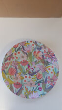CREATIVE TOPS GARDEN PARTY CHA CHA BLUE FLORAL DINNER PLATE. PLASTIC