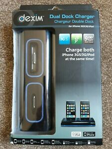 Dexim Dual Dock Charger iPhone 3GS/3G//iPod 9 Apple Dock Inserts