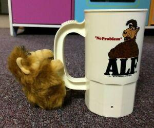 Vintage Alf plastic mug and plush clip on hugger