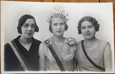 Beauty Queen/Pageant 1932 French Realphoto Postcard: Miss Cote d'or, Tiara