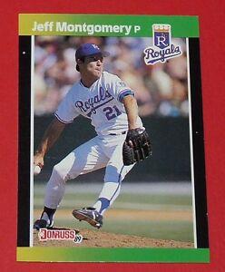 JEFF MONTGOMERY KANSAS CITY ROYALS DONRUSS 89 BASEBALL CARD LEAF USA 1989