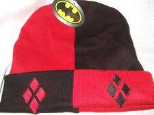 DC Comics Batman Harley Quinn Diamonds Watchman Knit Beanie Stocking Cap Hat HQ