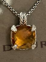 David Yurman 14mm Chatelaine Pendant Necklace CITRINE & Diamonds