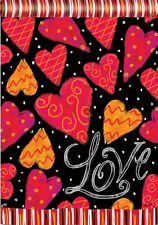 "Love Hearts Garden Flag Valentine's Day Decorative Love Yard Banner 12.5"" x 18"""