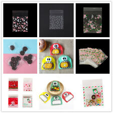100pcs Self Adhesive Seal Plastic Cookies Bags Gift Cellophane Bags Candy Bags