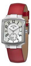 Philip Stein Women's Signature Classic Tank Red Strap Quatz Watch 21FMOPLR
