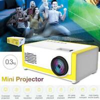 Mini Projector YG300 3D HD LED Portable Home Theater Cinema 1080P AV USB HDMI xz