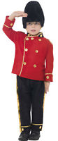 Boy Busby Red British Guard Army Military Soldier Fancy Dress Costume Outfit 4-7