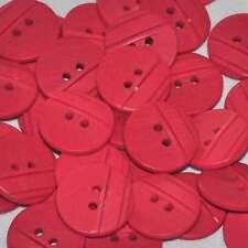 Mercerie lot de 5 boutons originaux ronds plastique rouge 18mm button