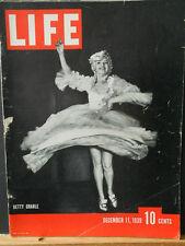 WWII Life Magazine Dec. 11 1939 Betty Grable, British Warplanes, Western Front