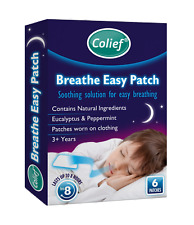 Colief Breath Easy Patch - 6 Eucalytus and Peppermint Decongestant Patches.