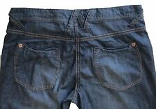 New Womens Dark Blue Tapered NEXT Jeans Size 12 Petite L 28 LABEL FAULT RRP £32