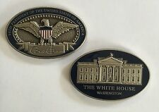 AUTHENTIC 44th POTUS Barack Obama Signature 3D Eagle & White House Oval Coin