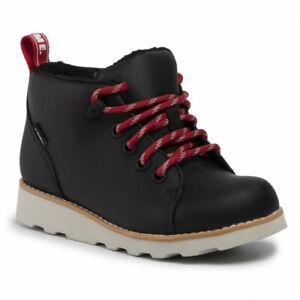 BNIB Clarks Boys CROWN TOR  Black Leather Waterproof Warm Lined Boots