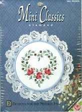 Mini Classics ROSES Flower Stamped Cross Stitch Kit - New