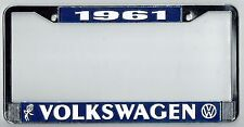 1961 Volkswagen VW Bubblehead Vintage California License Plate Frame BUG BUS T-3