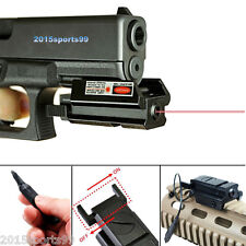Red Laser Sight Front Picatinny Weaver Rail fit For Pistol Glock + remote switch