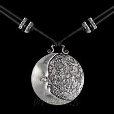 MOON Oberon Design PEWTER NECKLACE Britannia jewelry pendant man in face PNN31