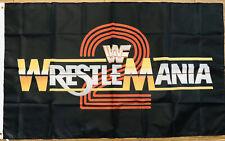 Wrestle Mania 2 Flag 3x5 WWF Banner World Wrestling Federation