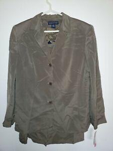Preston & York Women 3-Button Blazer Straight Skirt 2 Piece Suit 18