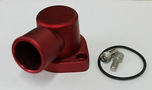 FORD CLEVELAND 90 DEGREE SWIVEL THERMOSTAT HOUSING WATER NECK RED