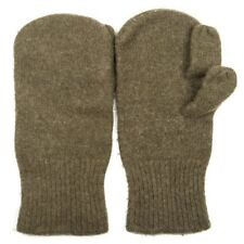 Authentic USGI WWII Wool Trigger Finger Mittens Heavyweight Wool Dark Brown